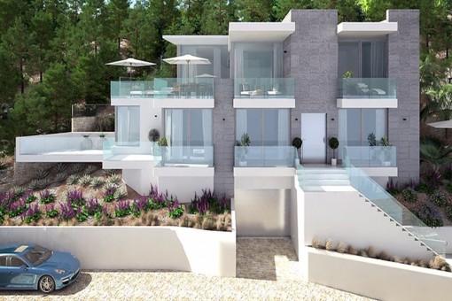 Neubauprojekt mit tollem Meerblick in begehrter Lage in Santa Ponsa