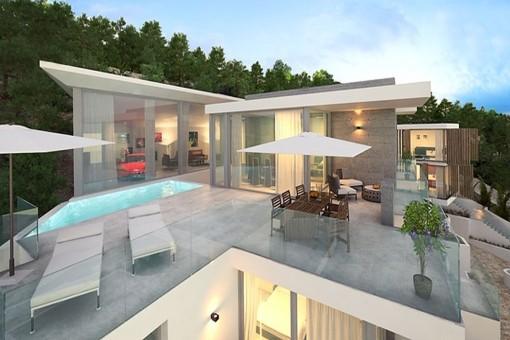 Wundervoller Poolbereich und Terrasse