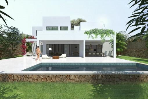 Modernes Villaprojekt in Cap des Moro
