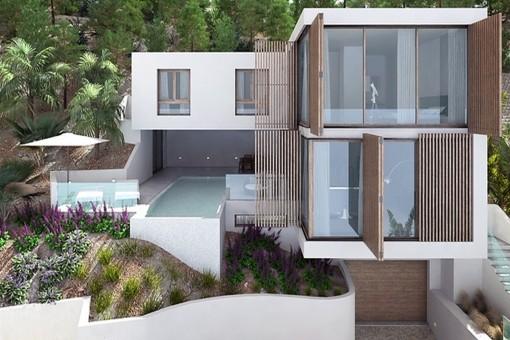 Moderne Neubauvilla mit tollem Meerblick in Santa Ponsa