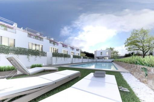 Exklusives Neubauprojekt mit Gartenanlage in Puerto d'Andratx