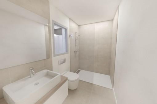 Wunderschönes Badezimmer mit Dusche