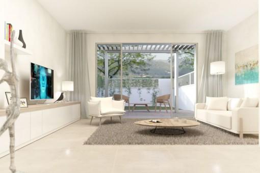 Neues, exklusives Reihenhaus nahe der Promenade in Port d'Andratx