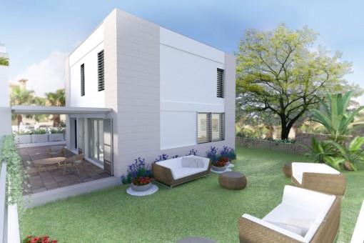 Wunderschönes, neues Reihenhaus mit Pool und Gartenanlage in Port d'Andratx