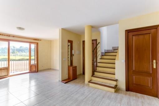 Duplex-Appartement mit schönem Weitblick und zentraler Lage in Sineu