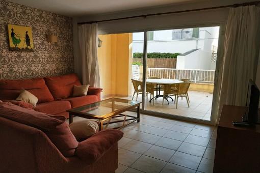 Helle Erdgeschoss-Wohnung in Port Pollença nur 50 m vom Strand und Pine-Walk entfernt