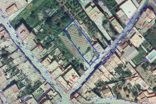 Plan des Grundstücks