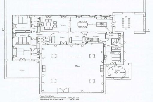 Plan des Gebäudes