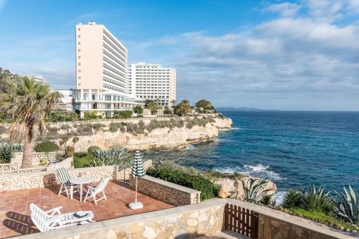 Schönes Apartment in erster Meereslinie in Cales de Mallorca