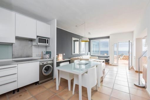 Moderner Essbereich in der Küche