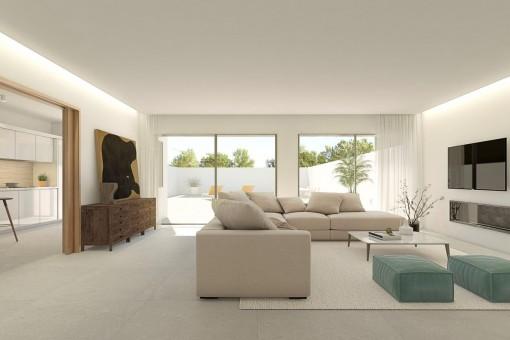 Moderne Wohnbereich