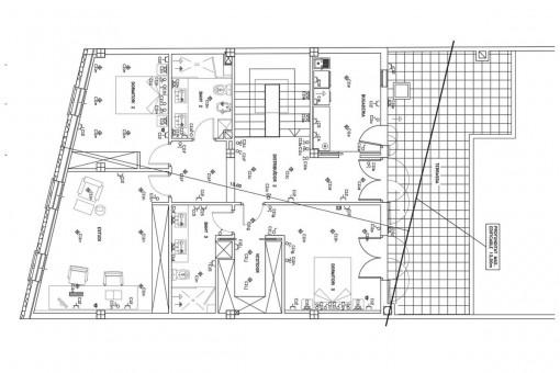 Grundriss des Obergeschosses