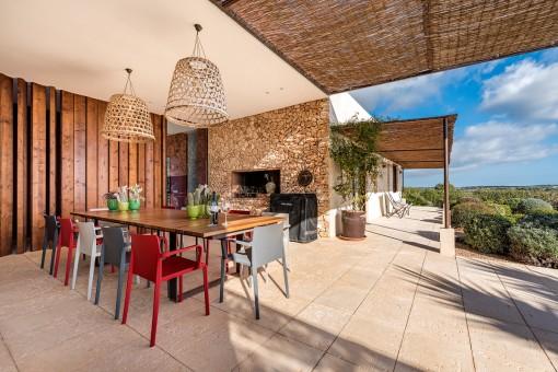 Terrasse im mediteranen Stil