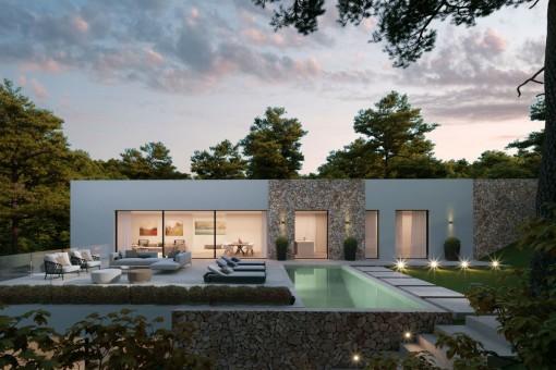 Luxusvilla mit herrlichem Panoramablick in Costa de la Calma