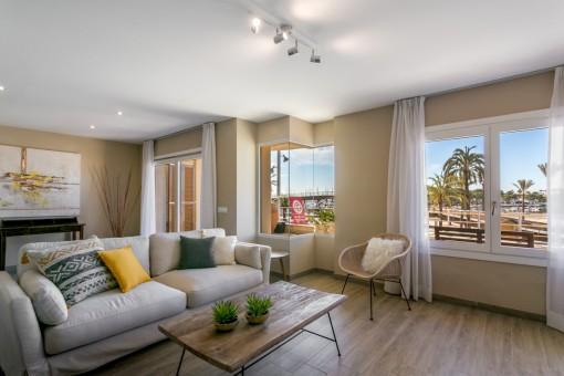 Apartment direkt am Strand von Port Alcudia mit Meerblick und Nähe zum Sporthafen ab 01.09.2019 verfügbar