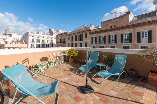 Wunderschöne, helle und moderne Wohnung mit Dachterrasse im Herzen von Palma