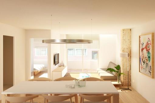 Geschmackvolle Architektenwohnung in Palma Stadt
