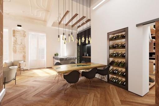 Lichtdurchflutete Luxuswohnung mit historischen Stilelementen in Palma