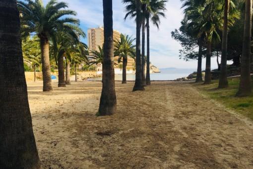 Ruhige Erdgeschosswohnung mit eigenem Garten und Stellplatz, fußläufig zum Strand in Cala Vinyas