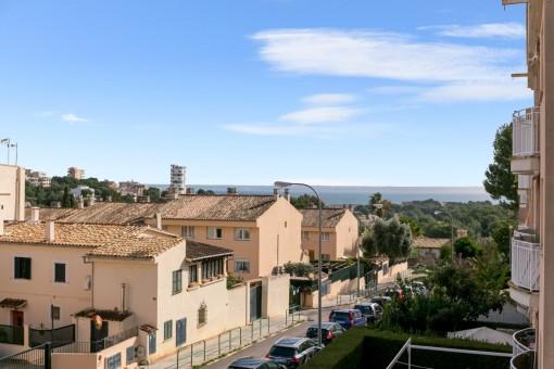 Strandnahe und ruhig gelegene Wohnung mit Teilmeerblick in Cala Mayor