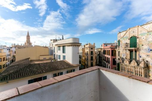Schickes Altstadtappartement mit kleiner Dachterrasse in Palma