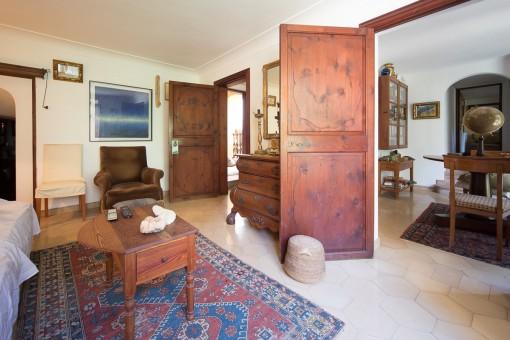 Schlafzimmer mit privatem Büro