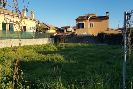 Schönes, flaches und ruhig gelegenes Grundstück mit Baulizenz für Einfamilienhaus in Palma / Es Pont de Inca Park