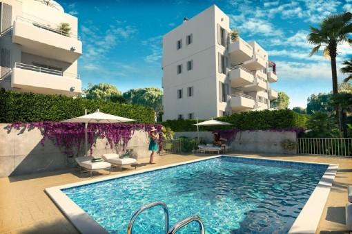 Neubauwohnung in der Nähe vom Yachthafen von Cala d'Or