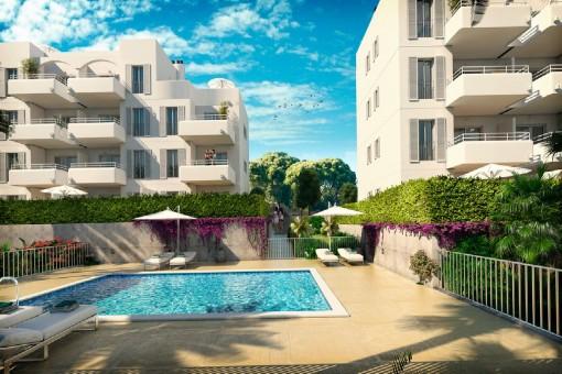 Neubauwohnung nahe des Yachthafens von Cala d'O