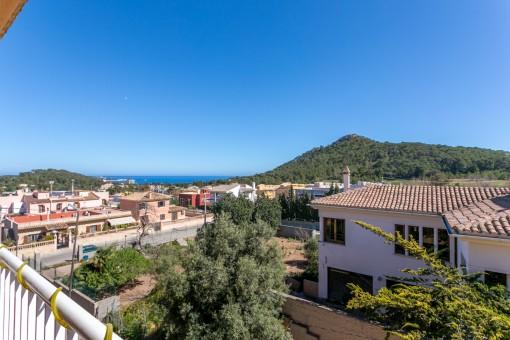 Ruhige Etagenwohnung in Capdepera mit Meerblick bis Son Moll und Menorca