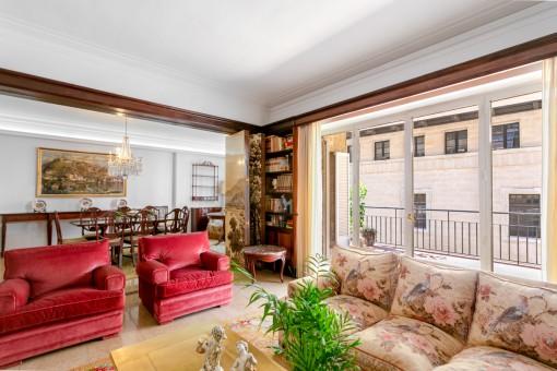 Wohnbereich mit direkten Terrassenzugang