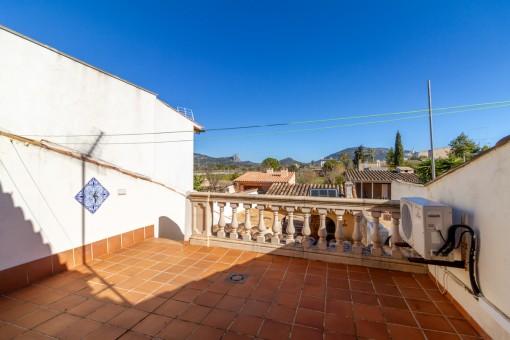 Balkon mit Panoramablick
