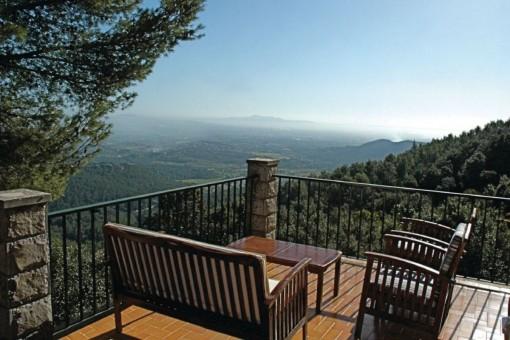 Wundervoller Bergblick vom Balkon aus