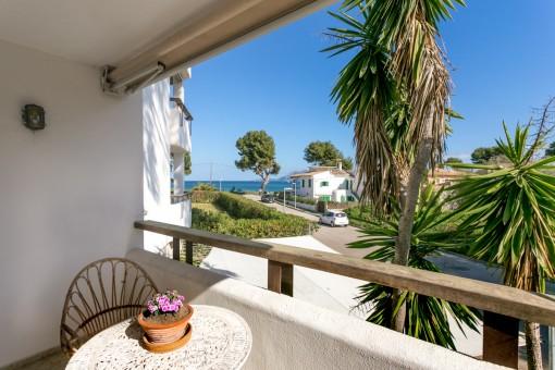 Gemütliche Wohnung in Port Pollença mit Meerblick, Terrasse und Gemeinschaftspool