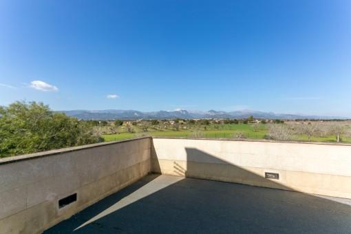 Dachterrasse mit fantastischen Panoramablick