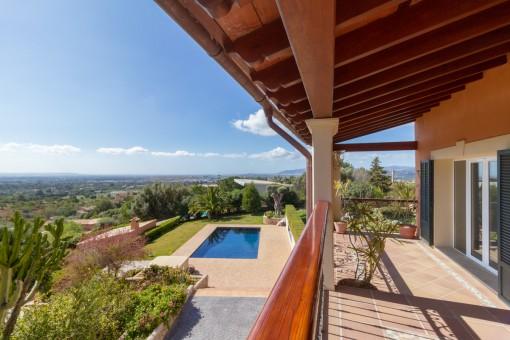 Villa in Bunyola mit tollem Panoramablick über die Bucht von Palma