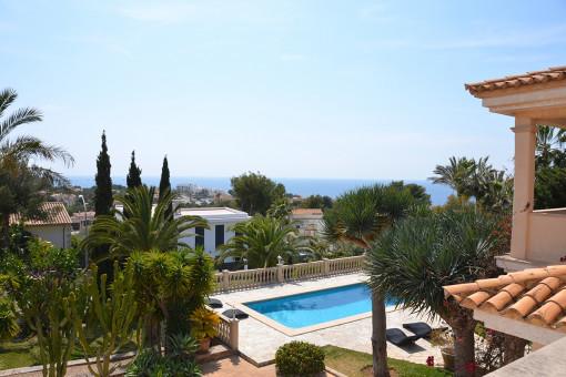 Traumhafter Meerblick von der Villa aus