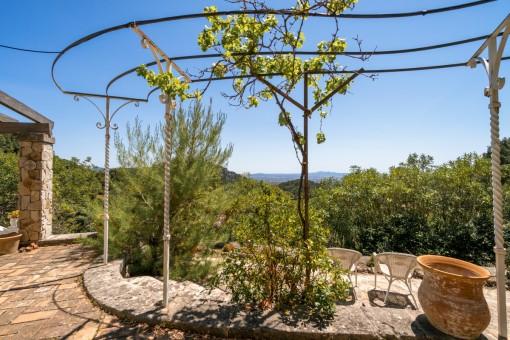 Terrasse mit wundervollen Ausblick
