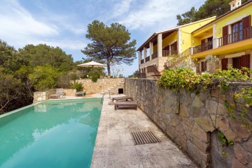 Renovierte Villa mit Meerblick inmitten der Natur von Valldemossa