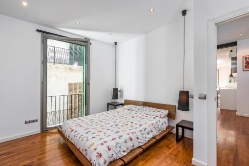 Doppelschlafzimmer mit französischen Balkon