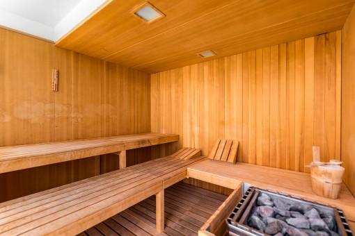 Sauna im Gemeinschaftsbereich