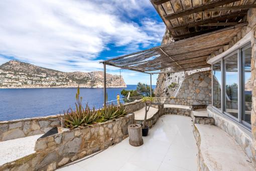 Mediterranes Apartment mit Traumblick auf das Meer in Puerto Andratx