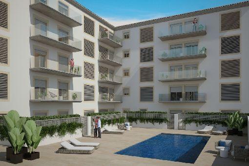Tolle Neubau-Designerwohnungen mit Gemeinschaftspool in Llucmajor