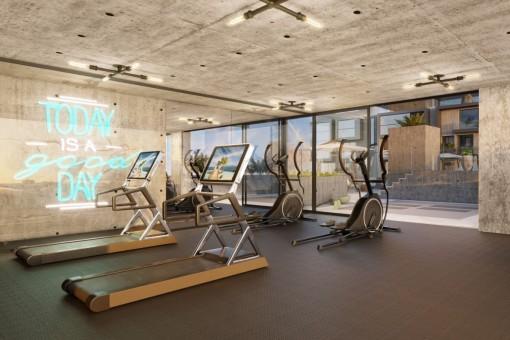 Gemeinschaftsbereich mit Fitnessraum