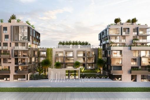 Exklusive 2 SZ Neubauwohnung in einer luxuriösen Anlage in Nou Llevant, Palma