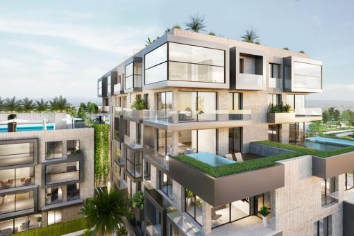Großzügiges und lichtdurchflutetes Apartment mit Dachterrasse in Nou Llevant, Palma