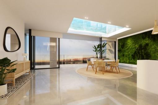 Alternatives Design des Wohnbereichs