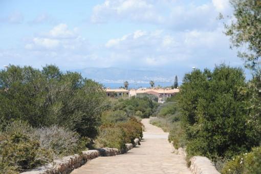 Großes Grundstück zum Bau einer Luxusvilla mit Meerblick in der Villengegend von Sa Torre