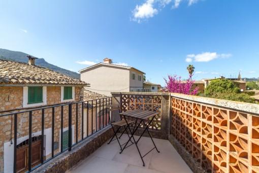 Kleiner Balkon mit Aussicht