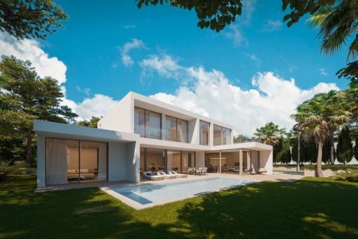 Außenansicht der luxuriösen Villa